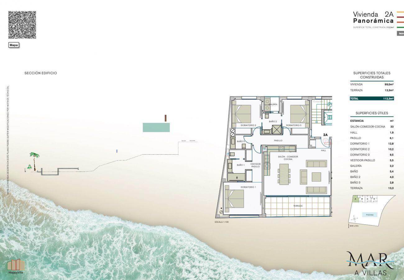 Nueva construcción en Villajoyosa - Mar a Villas 2A